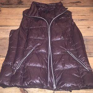 Brown short vest